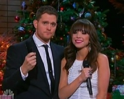 Michael Buble and Carly Rae Jepsen