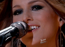 Cassadee Pope during top 8 live performance show