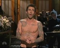 adam levine shirtless on snl