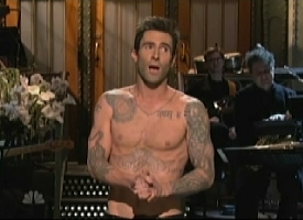 adam levine shirtless on snl