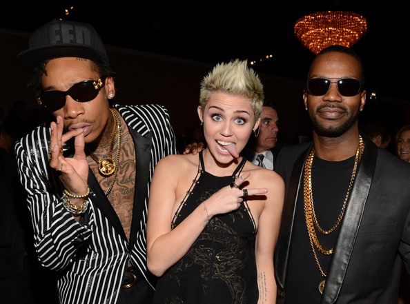 Wiz Khalifa, Miley Cyrus, Juicy J pregrammy