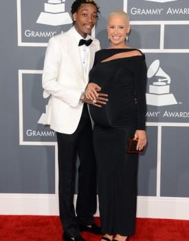 Wiz Khalifa and Amber Rose Grammys