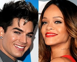 Adam Lambert, Rihanna - Getty