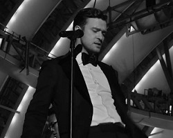 "Justin Timberlake in ""Suit And Tie"""