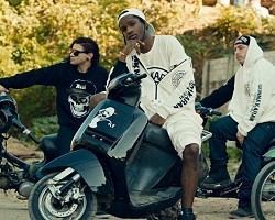 "A$AP Rocky and Skrillex in ""Wild For The Night"""