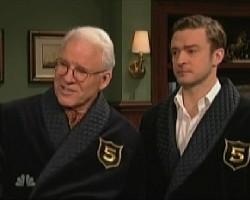 Steve Martin and Justin Timberlake