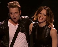 Ryan Tedder of OneRepublic and Katharine McPhee