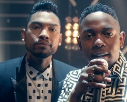 "Miguel and Kendrink Lamar in ""How Many Drinks"""