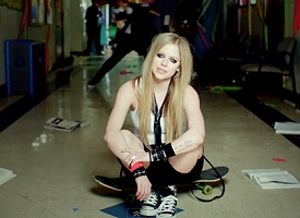 "Avril Lavigne in ""Here's To Never Growing Up"""