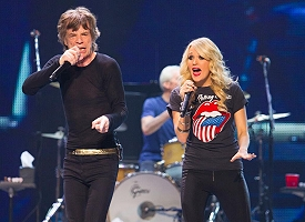 Mick Jagger and Carrie Underwood