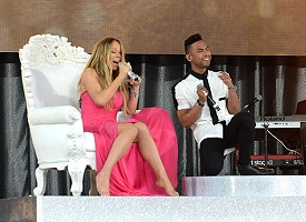 Mariah Carey and Miguel - Getty