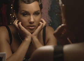 "Alicia Keys in ""Tears Always Win"" video"