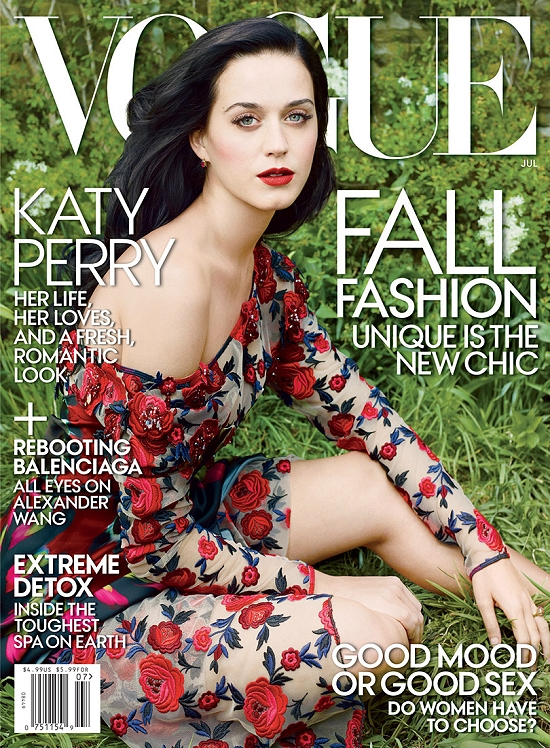 katy perry july vogue