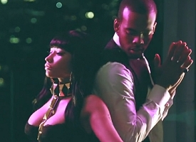 "Nicki Minaj and Mario shooting ""Somebody Else"""