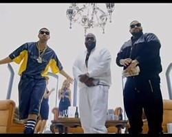 "Drake, Rick Ross and DJ Khaled in ""No New Friends"" video"