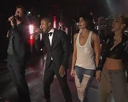 Robin Thicke, Pharrell, Leah LaBelle, Miley Cyrus