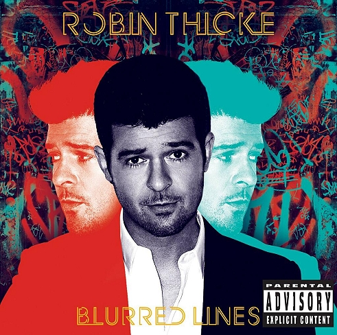 robin thicke blurred lines album cover