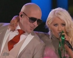 Pitbull and Christina Aguilera