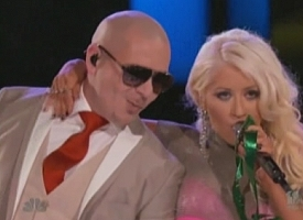 Pitbull and Christina Aguilera