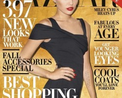 miley cyrus haper's bazaar october 2013 cover