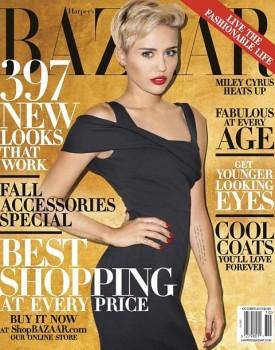 miley cyrus haper's bazaar october 2013 cover
