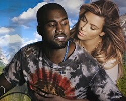 "Kanye West and Kim Kardashian in ""Bound 2"""
